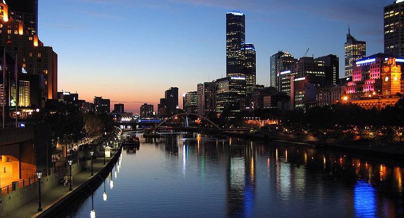 Sông Yarra ở Melbourne, Úc